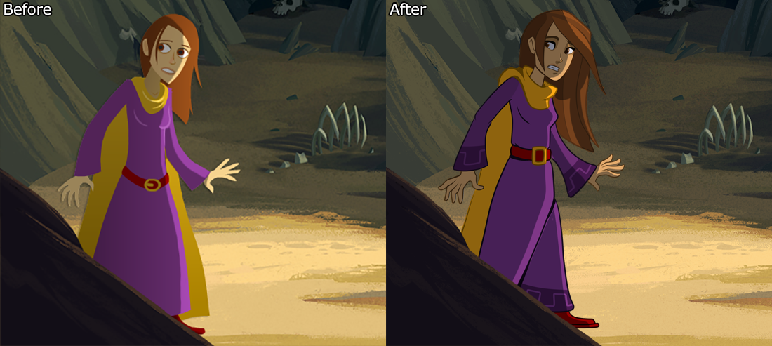 DQ1 HD before & after