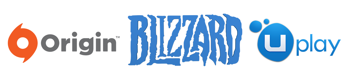 Origin, Uplay, Blizzard